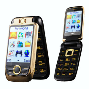 "Unlocked V998 Flip Double 2.6"" Screen Dual SIM Metal Body Magic Voice Phone"