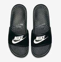NIKE BENASSI JDI 343880 090 black white Men's Slide Sandal  Fast shipping O