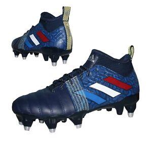 Adidas Kakari X Kevlar SG Herren Rugby Schuhe Fußballschuhe Stollen blau Leder