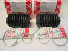 Pair Manual Steering Rack Boots & Clips VW Mk2 Mk3 Golf Jetta  Febi OE Quality
