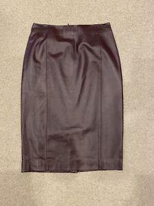 Brooks Brothers Leather High Waist Skirt US Sz 0 (new)