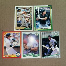 Jose Canseco 5 Card Lot (Topps, Fleer, Score)