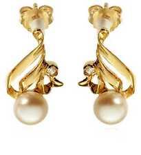 Mode-Ohrschmuck aus Sterlingsilber mit Perle für Damen