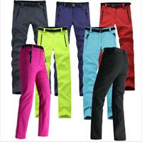 Women Outdoor Hiking Ski Pants Warm Fleece Padded Windproof Waterproof Trousers