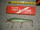 Vintage Stan Gibbs GTS-3 Green Mackerel Saltwater Fishing Lure with Original Box