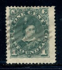 NEWFOUNDLAND 45 SG50a Used 1896 1c grn Edward VII Cat$4