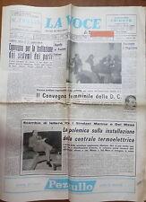 LA VOCE DI SALERNO 11 febbraio 1968 Sistemi dei porti CSI Juventina Nuova Pompei