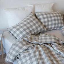 Pure Natural 100% Flax Organic Linen Bedding Set Duvet Cover + 2 Pillowcases