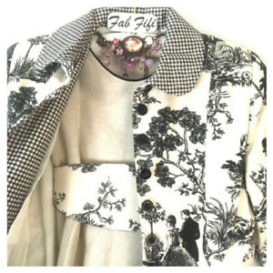 Gorgeous Dress & Jacket Coat Toile de Jouy Wedding Special Carlota 6 8 9 10