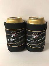 Miller Genuine Draft MGD Beer Can Bottle Cooler Koozie Coolie ~ Set of 2 NEW F/S
