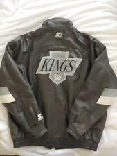 Vintage Starter NHL Los Angeles Kings Men's Leather Jacket Size Large LA