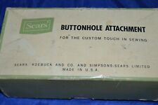 SEARS KENMORE 20/6774 SEWING MACHINE BUTTONHOLE TEMPLATES/MANUAL/BOX USED