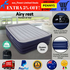 Portable Air Beds Inflatable Sleeping Mattress Camping Built-in Pump Queen Sizes