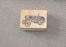 1997 Double D Rubber Stamps 1997 Vintage Old Steam Engine Tractor Machinery 1419