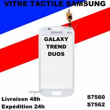 ECRAN VITRE TACTILE SAMSUNG GALAXY TREND DUOS ACE 2X S7560 S7562 BLANC + ADHÉSIF
