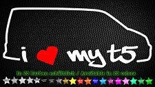 I Love My T5 Multivan Caravelle VW Aufkleber Sticker Tuning Styling 20cm x 8cm