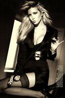 "IVANKA TRUMP In Black Stockings & Whip On Desk Vintage 4""x6"" Reprint Photo"