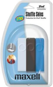 I Pod Compatible Shuffle Skins 3 Pack Maxell Protection for iPod Shuffle NOS