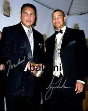 MUHAMMAD ALI & TIGER WOODS DUAL SIGNED 12X18INCH POSTER PHOTO PRINT - AWESOME!!!