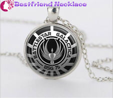 Battlestar Galactica silver movie necklace for women men Jewelry#T25