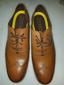 NWOB Cole Haan  Men's Zerogrand Wingtip Oxford Shoe British Tan  Leather Size 15