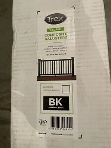 """(BOX OF 16) Trex Transcend Square composite Balusters for 36"""" Rail Height  BLACK"""