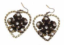 Declaración de moda Aretes Pendientes Pendientes Pendientes del corazón flor pendiente