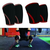 For Men Women 7MM Knee Sleeve Support Squat Powerlifting Wraps And Straps TS*