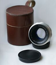 1955! Carl Zeiss Jena BIOTAR Red T Lens f/2 58mm Silver 10-BLADES version M42