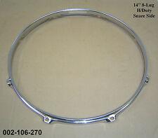 """14 """" 8-lug TRIPLE FLANGIATO H / dovere inferiore Hoop / RING / RIM rullante tamburo 002-106-270"""