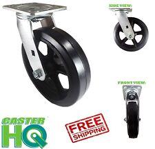 Casterhq 5 X 2 Swivel Mold On Rubber Caster Wheel Carts Dollie Hand Truck