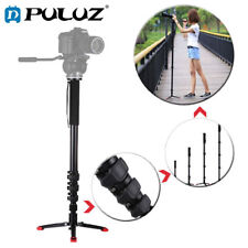 PULUZ 2 in 1 Telescoping Camera Monopod + Base Bracket for Sony Nikon Canon