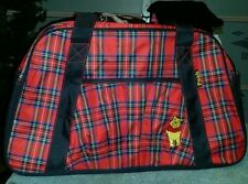 "Winnie the Pooh red plaid Disney Tot, Bag, diaper bag school bag 20""x11""4"""