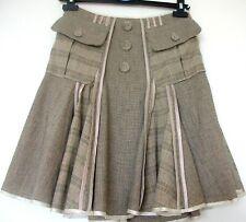 AMULETI Linen/Cotton Satin Seamed Skirt - Size 10 - perfect!