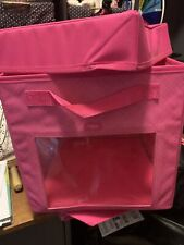 31 Thirty One Pink Crosshatch Your Way Cube And Lid