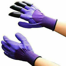 Purple Garden Gloves for Digging Planting Pake with ABS Claws Gardening Gloves