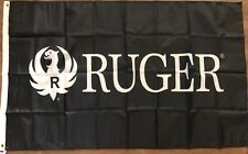 Ruger flag Banner 3x5 Ft sniper rifle gun sign hunting man cave handgun