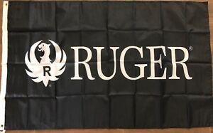 Ruger flag BANNER 3x5 FT sniper rifle gun sign hunting man cave handgun
