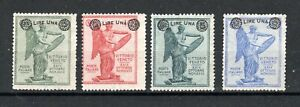 Italy 1924 surcharge set MLH