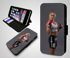 Ronda Rousey MMA UFC Femin Champion Wrestling Leather Wallet Phone Case Cover