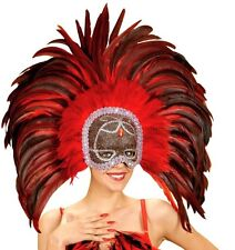 Red Trocadero Masquerade Moulin Rouge Cabaret Mardi Gras Showgirl Mask Fancy