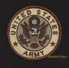 US ARMY SEAL LOGO HAT PATCH DESERT TAN USA EAGLE EMBLEM PIN UP FORT CAV INF ARTI