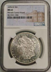 1878-CC Morgan Silver Dollar $1 Carson City NGC MS62 Nevada Casino Hoard