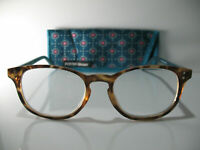 Foster Grant Elodie Brown & Green Womens Reading Glasses w/ Case 1.75 2.00 2.50