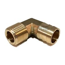 5/8 HOSE BARB ELBOW X 3/8 MALE NPT Brass Pipe Fitting Thread Gas Fuel Water Air