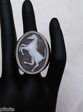 CAMEO RING with HORSE size 14/54/7/N