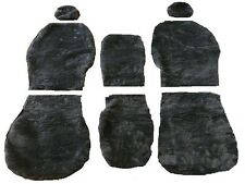 GREY FUR SEAT COVER ( ARTIFICIAL SHEEPSKIN ) TO FIT TOYOTA HIACE 1983 - 1988