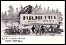 PUBBLICITA' 1932 MICHELIN GOMME PNEUMATICI BIBENDUM AUTO PAESAGGIO TRENTO CARS