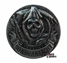 Sons Of Anarchy Soa Grim Reaper Symbol Gunmetal Belt Buckle