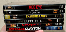 Lot Of 6 Thriller Dvd Movies: Red Eye The Sixth Sense Changing Lanes Unfaithful